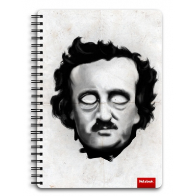 "Блокнот ""Edgar Poe\"" А5, edgar poe, dark, grunge, portrait"